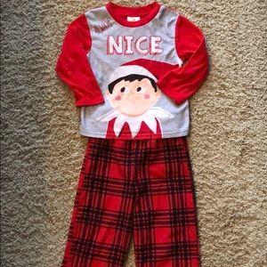 Elf on the Shelf fleece pajamas
